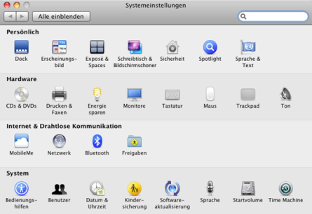 Magic-Trackpad-Systemsteuerung