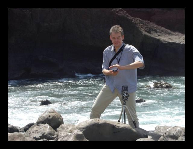 Der Ansgar am Punta de Teno mit Gossen Lunasix und Rolleiflex 3.5F