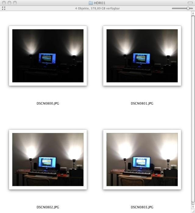 Belichtungsreihe aus der Nikon P7000