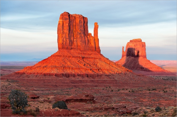 The Vasenius Shadow at Monument Valley