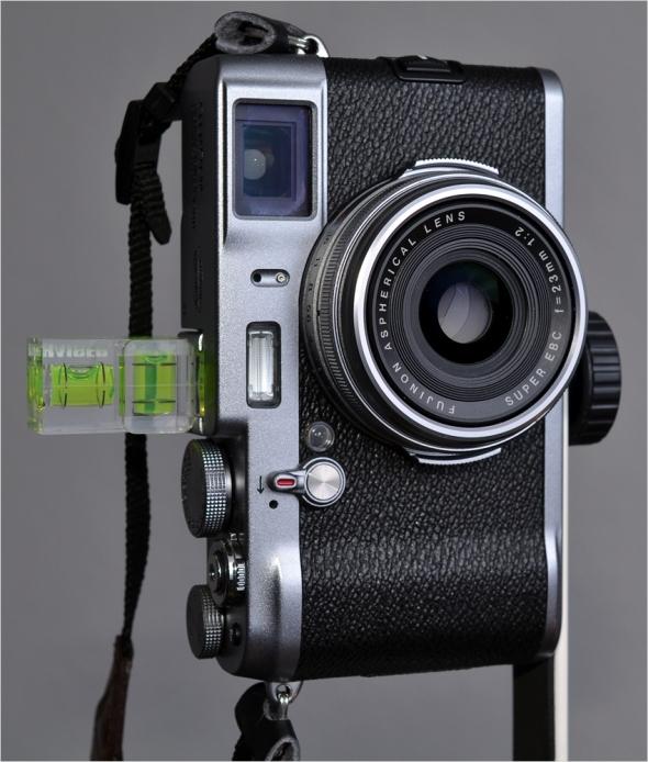 Fuji X100 mit Nodalpunkt-Adapter I