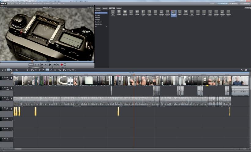 Videoschnitt mit Magix Video Deluxe MX