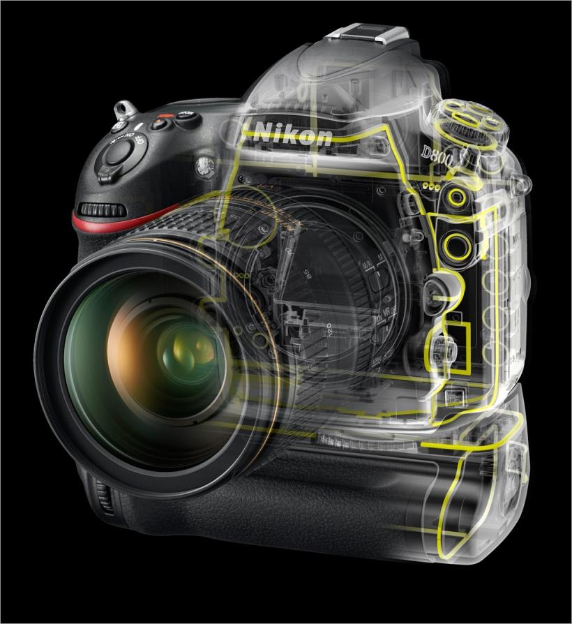 Nikon D800T in transparentem Gehäuse