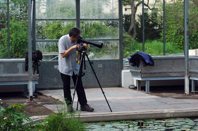 Ansgar mit Nikon F4s und Sigma Telezoom