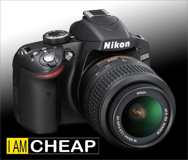 Nikon D3200 18-55mm Top Right
