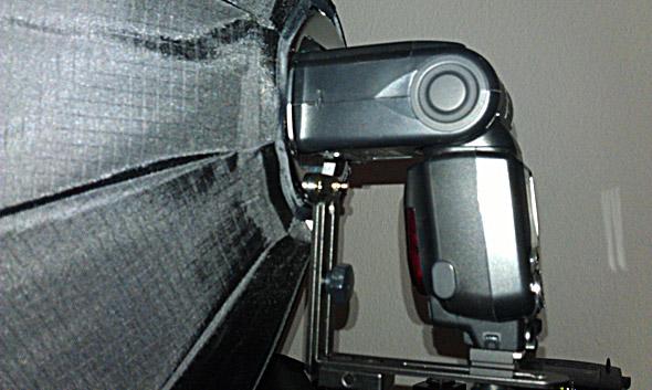 Nikon SB-900 mit Softbox