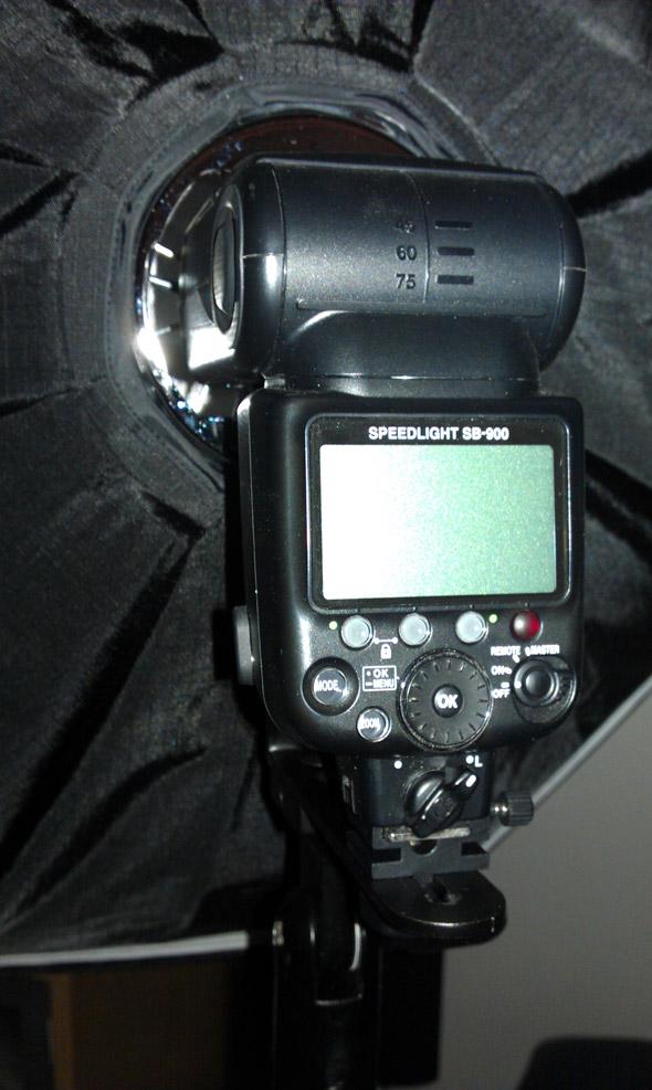 Nikon SB-900 mit Softbox II