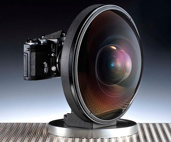 Nikon F mit Fisheye