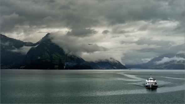 Morgenstimmung am Vierwaldstätter See bei Buochs