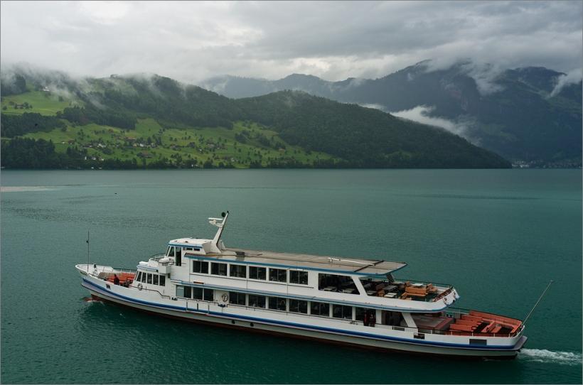 Morgenstimmung am Vierwaldstätter See bei Buchs mi Fuji X100