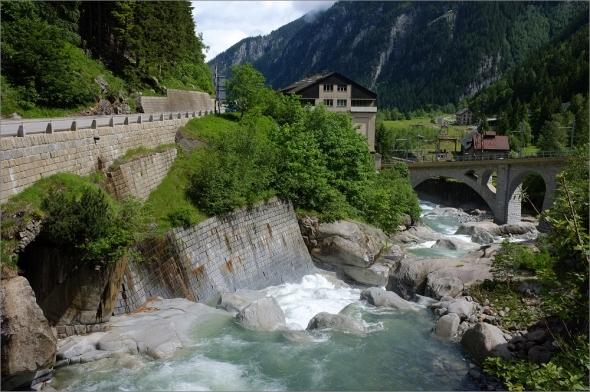 Auf dem Weg zum St- Gotthard Pass