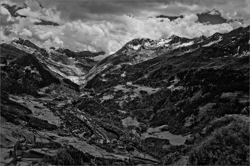 Auf dem St. Gotthard Pass mit Fuji X100 und Infrarotfilter IR-72