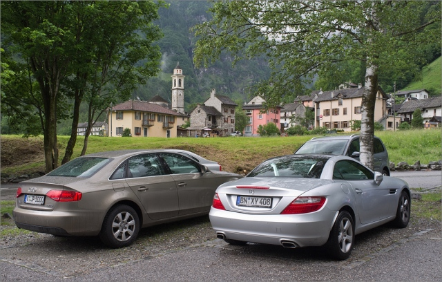 Mit dem SLK zu Besuch in Sonogno