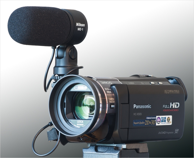 Panasonic HC-X909 mit Nikon ME-1