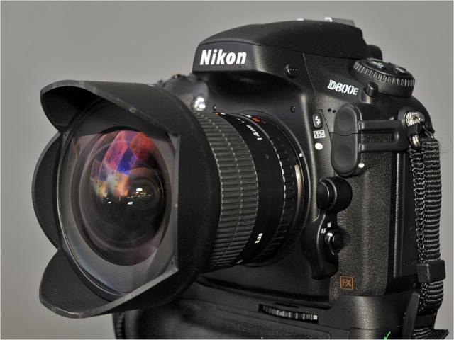 Nikon D800E mit SAMYANG 2.8/15mm