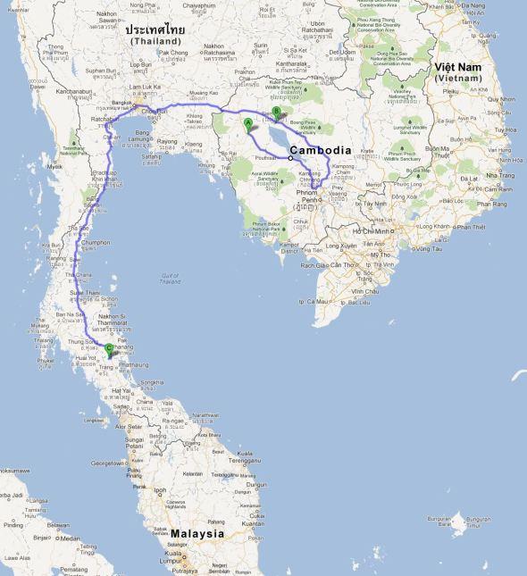 Anastasios auf Weltreise - Reiseroute - Teil 2