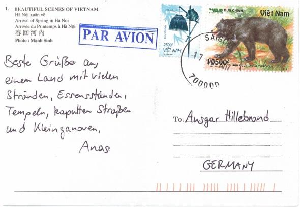 Postkarte von Anastasios - Vietnam