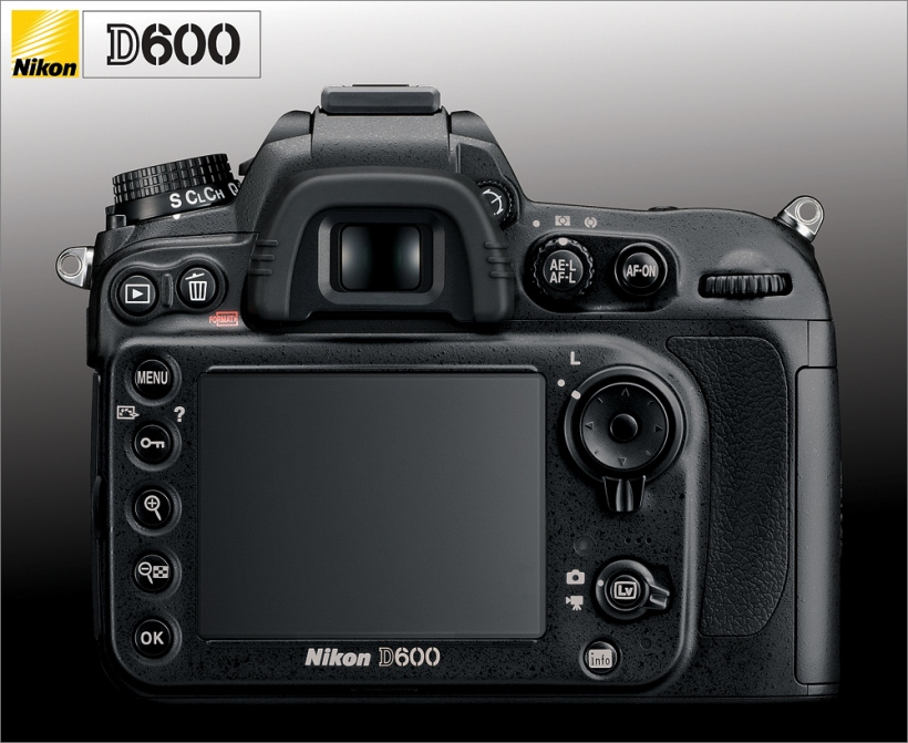 Nikon D600 - Rückseite - Back - Display