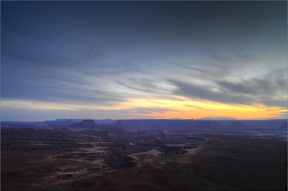 Green River Sunset - Canyonlands - Island in the Sky