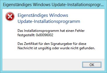 Eigenständiges Windows Update-Installationsprogramm