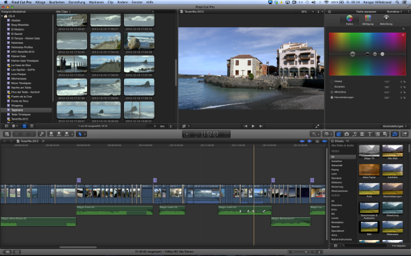 Videoschnitt mit Apple Final Cut Pro X