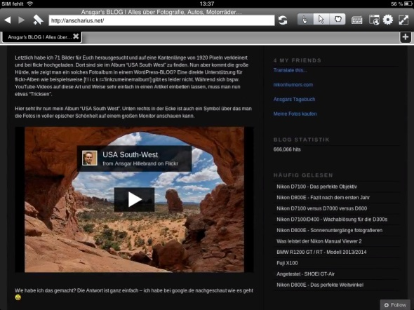 Photon Flash Browser - iPad - flickr