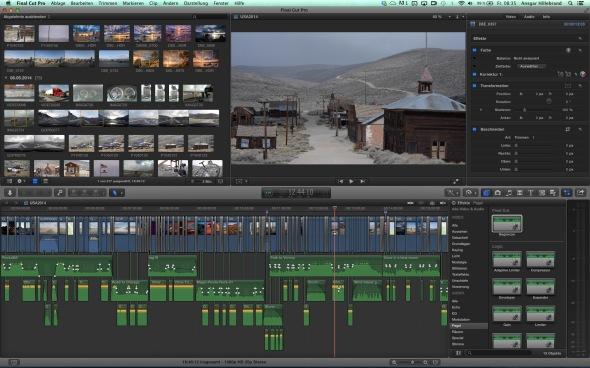 FCPX-Videoschnitt