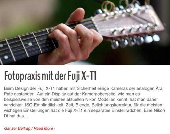 Fotopraxis Fuji Fujifilm X-T1 X-E2 X-E1